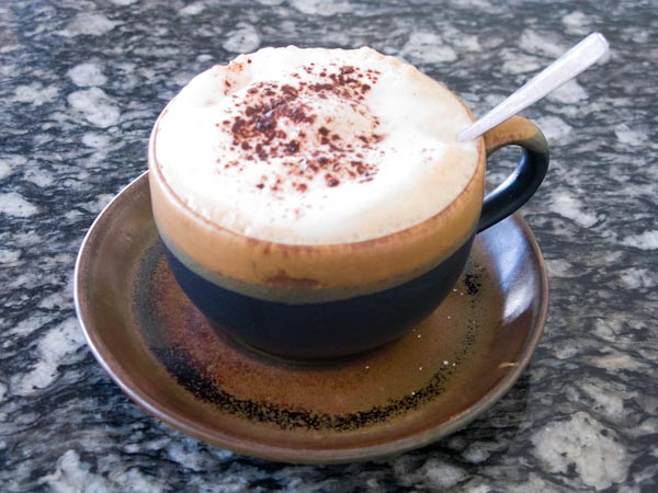 The delicious caffe latte