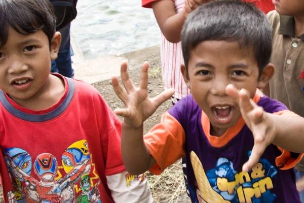 Happy Balinese children