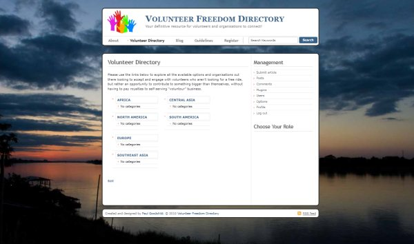 Volunteer Freedom Website